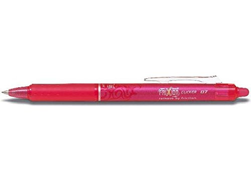 Stylo roller frixion ball clicker 0,4 mm, rose