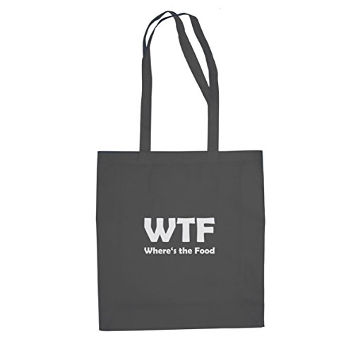 Wtf Party Kostüm - Planet Nerd Where's the Food - Stofftasche/Beutel, Farbe: grau