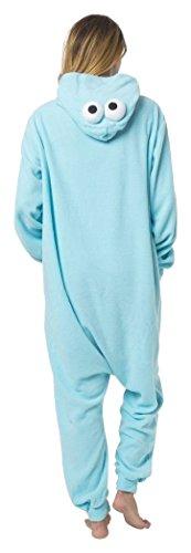 Monster Kostüm Pyjama - Katara 1744 - Krümelmonster Kostüm-Anzug Onesie/Jumpsuit Einteiler Body für Erwachsene Damen Herren als Pyjama oder Schlafanzug Unisex - viele verschiedene Tiere