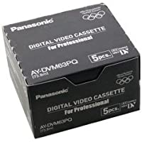 Panasonic - Paquete de 5 Cassetes AY-DVM63PQ DV para Profesionales