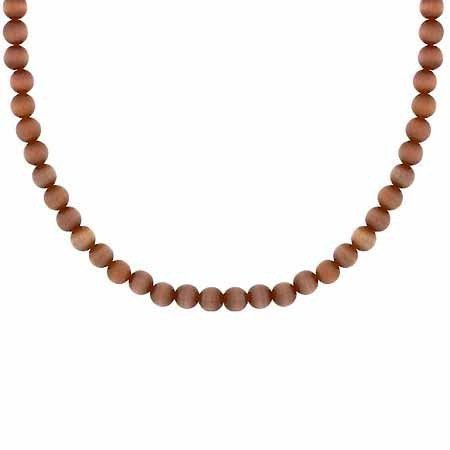 Sterling Silber 4mm Simulierte Braun Katzenauge Bead Perlen Kette 38,1–48,3cm Halskette