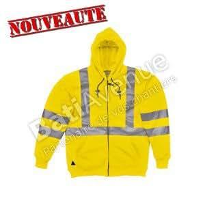 Delta Plus- Rescue Sweat Molleton Polyester Haute VisibilitÉ Jaune-rescujaxg
