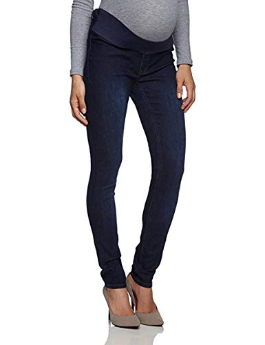 ESPRIT Maternity Jeggings Sophie Damen Umstandsmode Hose M8C017 Skinny/Slim Fit Faded Denim Bootcut Jeans