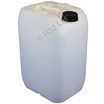 Liquids Container 25L Capacity Strong Plastic Jerry Can Water Drinks Oils Fuels Caravan Motorhome