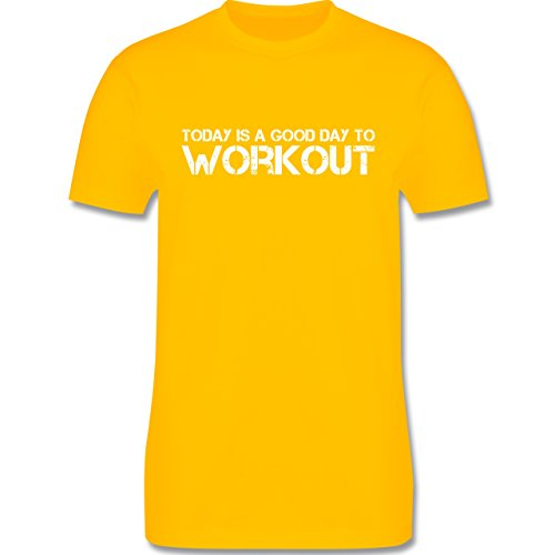 CrossFit & Workout - Today is a good day to workout - Herren Premium T-Shirt Gelb