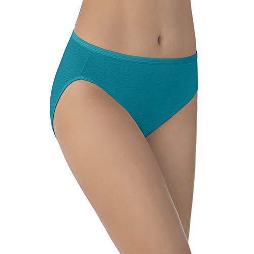 Französisch-cut Unterwäsche (Vanity Fair Damen Illumination Hi Cut Panty 13108 Unterhose, Juniper, Medium)