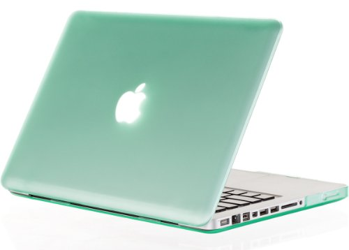 Kuzy 15-inch GREEN Rubberized Hard Case Cover for Apple MacBook Pro 15.4