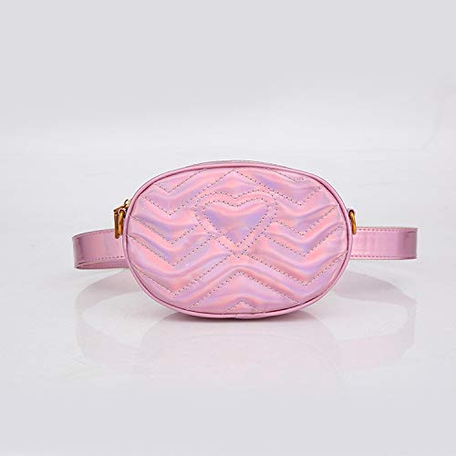 Sruma - Mode-Herz-Rosa-Sommer-Frauen Hüfttasche Designer Ketten-Schulter-Umhängetaschen Fanny Pack Brusttasche für Mädchen Kleines Belt Pack Pink []