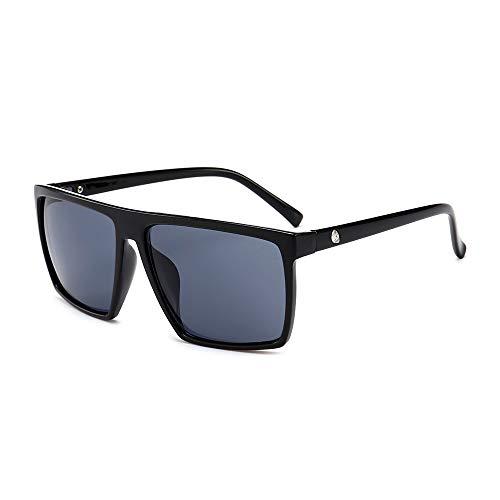 WJFDSGYG Quadratische Sonnenbrille Herren Designer Spiegelfoto Chrom Übergroße Sonnenbrille Herren Sonnenbrille Mann