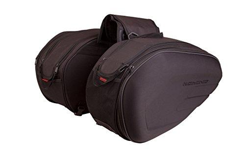 Auto Companion - Coppia di borse laterali semirigide per moto, con teli impermeab