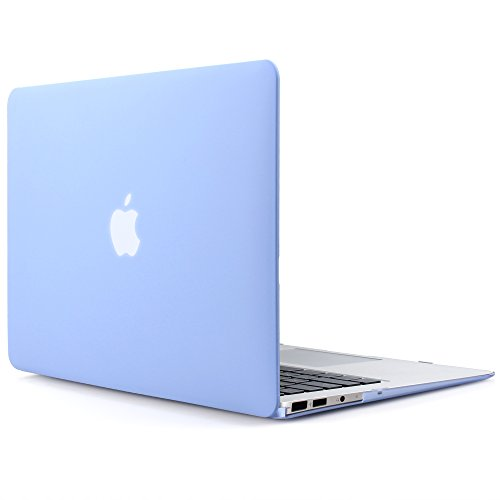 iDOO MacBook Schutzhülle / Hard Case Cover Laptop Hülle [Für MacBook Air 13 Zoll: A1369/A1466] - matt, Babyblau (Macbook Air Case Blau)