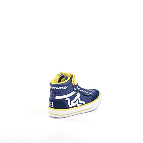 Drunknmunky Sneakers scarpe bambino royal BOSTON CLASSIC 146 Blu giallo