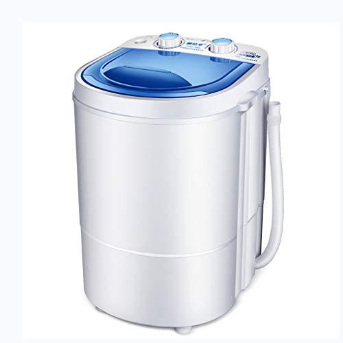 Mini-Waschmaschine Kleine Tragbare Top-Waschmaschine 6.6lbs Kapazität Single-Badewanne, energiesparende und platzsparende Recycling-Korb (blau/weiß)