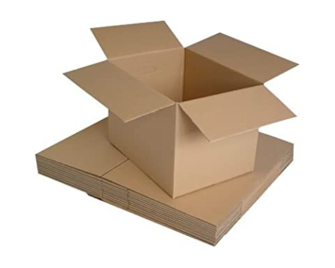 REALPACK® 10 x Boxes Single Wall Size : 12''x9''x6'' - Ideal for Moving House or Just Storing Items Away Free Fast Shipping *Next Day UK Delivery Service*