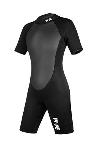 PI-PE Damen Neoprenanzug Active Spring Short Sleeve, Black, S, PNA-3-S