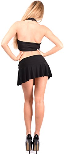 Arunta® Damen Neckholder Club Gogo Dance Top bauchfrei Schwarz