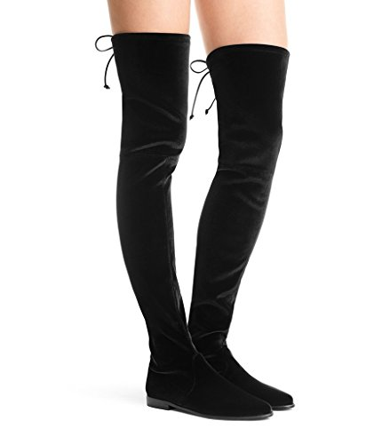 Amy Q, Damen Stiefel & Stiefeletten Black Velvet