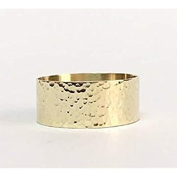 FloweRainboW Breiter Trauring 585 Gelbgold Texturiert – Hochzeitsring/Ehering/Verlobungsring – Damen/Männer