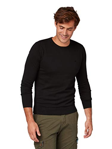 TOM TAILOR Herren 30228800910 Pullover, Schwarz 2999, Large