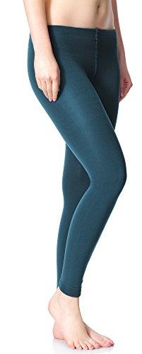Merry Style Damen Thermo Leggings mit Innenfleece 24550 Extra Warm Dunkelgrün (24552)