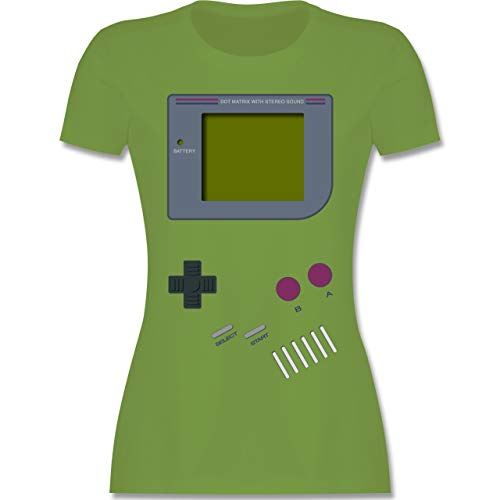 Girl Kostüm Old School - Nerds & Geeks - Gameboy - M - Hellgrün - L191 - Damen Tshirt und Frauen T-Shirt