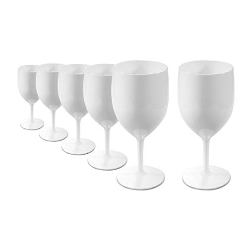 RB Irrompible Copas de Vino Blanco Policarbonato Plástico Premium 27cl, Set de 6