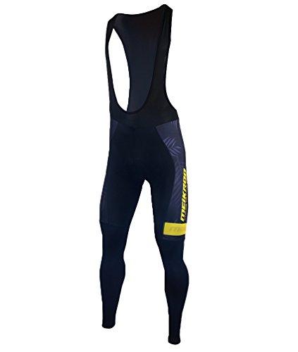 Yiiquan Herren Outdoor Bekleidung Ärmellos Fahrrad Anzug Bike Jersey mit 3D Padded Bib Pants (Schwarz Gelb, Asia L)