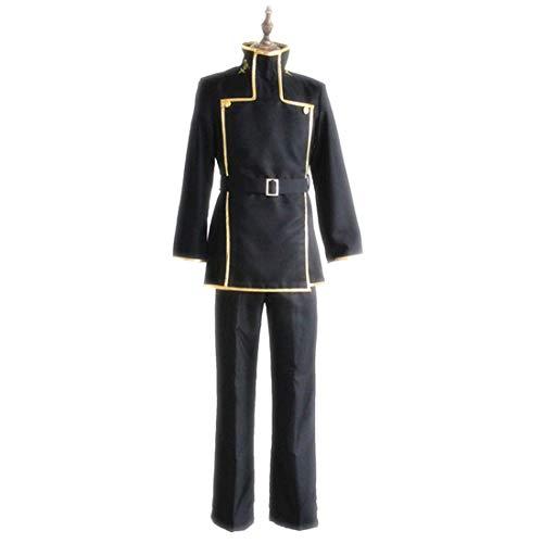 RL Code Geass Cosplay Lelouch Lamperouge Japanische Schuluniform Schwarz Herren Code Geass Kostüm,Full Set-L