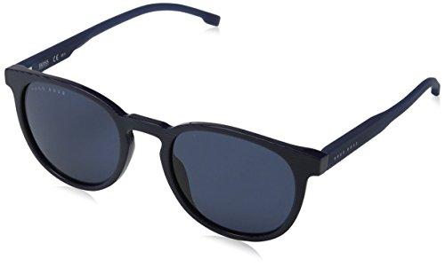 Hugo boss boss 0922/s ku avs 51 occhiali da sole, blu (striped blue), uomo