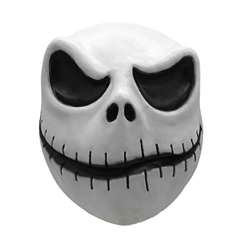 hcoserThe Nightmare Before Christmas:Jack Skellington Maske Schädel Horror Latex Cosplay Halloween Party für Erwachsene