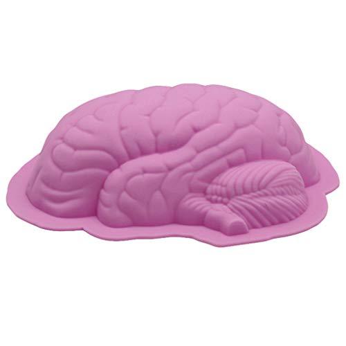 Y56(TM) Umweltschutz Silikon Pudding-Schokoladenform Gehirn Aromatherapie-Gipsform Fondantform Kuchenform Seifenform, 22x17x6CM (ungefähr)