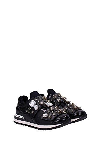 CK0004AL3908B956 Dolce&Gabbana Sneakers Femme Cuir Noir Noir