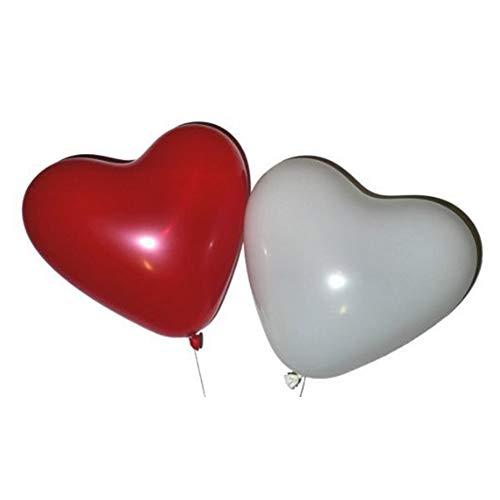 Herz-Ballone Rote und weiße Latex Ballons für Hochzeit Dekorationen Brautparty-Geburtstags-Party, Valentinstag Luftballons, Halloween Dekoration 20pcs Hohe Qualität, praktisch, die Sie verdient haben