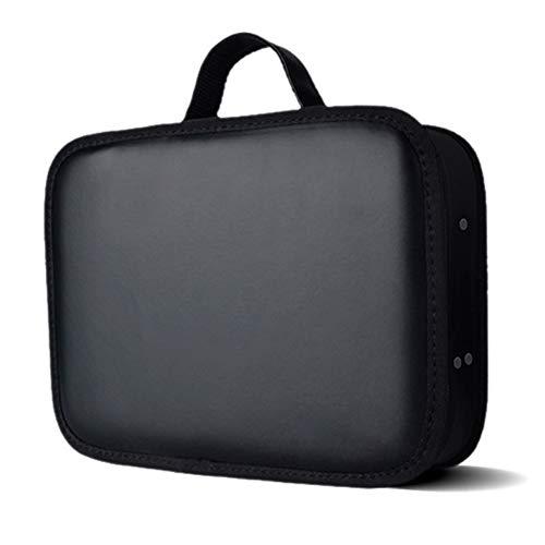 Yeshai3369 Tragbarer Kosmetikkoffer für Friseurwerkzeuge, für Friseursalon, Styling, Haarkamm, Schere, Aufbewahrungstasche, Reisetasche, Schwarz
