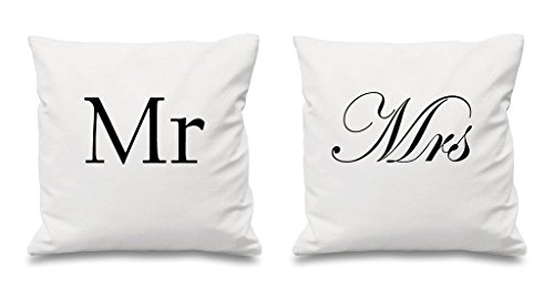 Mr and mrs white copricuscini 40,6x 40,6cm coppie cuscini san valentino anniversario di matrimonio camera da letto decorativo cuscino casa