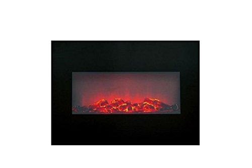Electric Fireplace Heater Memphis Wandhalterung 1800 W Schwarz, Die elektrischen Kamin-Öfen (973977013632)