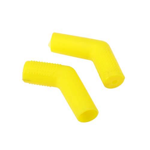 Vosarea 2pcs moto gear shifter manica scarpa proteggi stivali maiusc sock moto copertura di avvio protezioni (giallo)