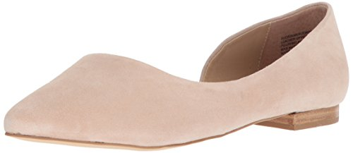Steve Madden Women's Audriana Ballet Flat, Natural Suede, 6.5 M US - Womens Casual Ballet Flat