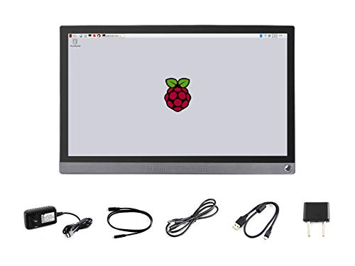 Waveshare 15.6inch Universal Portable Touch Monitor 1920×1080 Full HD IPS Screen HDMI/Type-C Connectivity Toughened Glass Capacitive Panel for Raspberry Pi Jetson Nano Embedded Ferrite Hi-Fi Speaker (Touch-screen-monitor)