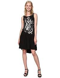2b450ecb8e1 Desigual Dress Sleeveless Omahas Woman Black Robe Femme