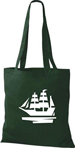 JUTA Borsa di stoffa barca a vela, Stivale, SKIPPER, CAPITANO Verde
