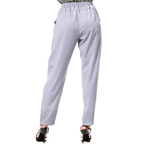 Momoxi Pantaloni da Yoga, Pantaloni Larghi di Harem Allentati della Vita Alta delle Donne di ModoPantaloni Ampi A Gamba Larga con Motivo Floreale in Pizzo A Vita Alta da Donna