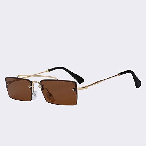 Yuanz Frauen Metall Quadrat Sonnenbrille Frauen Markendesigner Kleine Box Vintage Sonnenbrille Männer Uv400,T