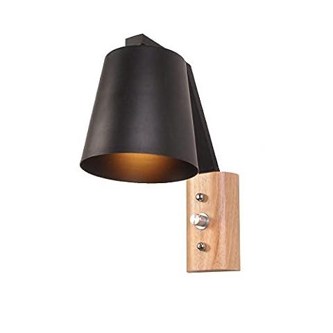 Lampe Murale En Bois Massif Nordique Lampe De Lecture Éclairage