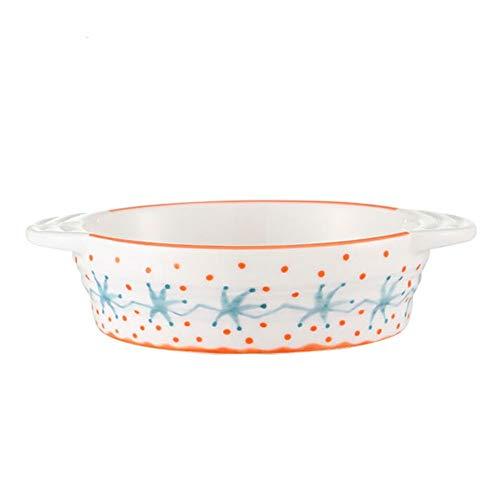 XINGZHE Backblech, Licht gemalt Backblech, Ofen Keramik Teller Backutensilien, hohe Temperaturbeständigkeit Backenwerkzeuge (Size : 17.5X4cm)