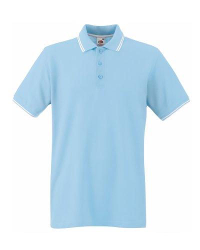 Fruit of the Loom Herren Poloshirt Blue (Sky Blue/White)