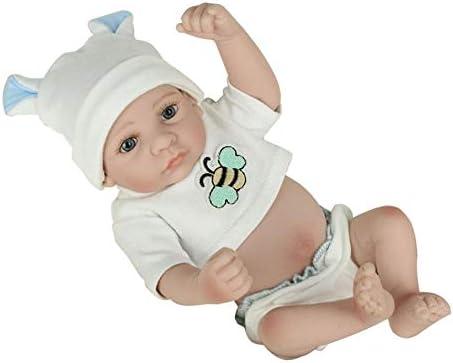 KNOSSOS 28cm Kids Reborn Baby Doll Vinyl Washable Soft Vinyl Doll Lifelike Newborn Doll Boy B07LBT6FCD 3bd4eb