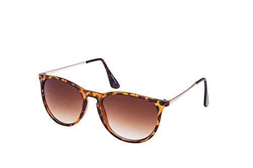 EL-Sunprotect Clubmaster Classic Optik Sonnenbrille - UV400 Brille Premium Qualität - Leopard Look...