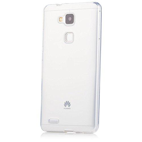 Huawei Ascend Mate 7 | iCues Transparent TPU Case Klar | [Display Schutzfolie Inklusive] Transparent Klarsichthülle Durchsichtig Klare Klarsicht Silikon Gel Schutzhülle Hülle Cover Schutz