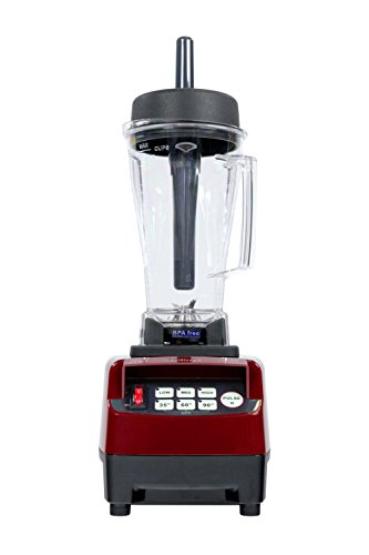 Smoothie Maker JTC OmniBlend V: Mixer Blender 2,0 Liter BPA-FREIE Behälter mit Edelstahlmesser (6 Stahlklingen) - 3PS Motor - 38.000 U/min für feine Smoothies. (Rot)